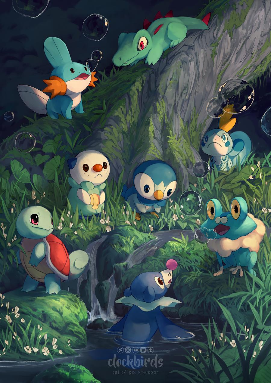 Water Starters By Clockbirds On Deviantart Pokemon Iniciales Fotos De Pokemon Xyz Imagenes De Pokemon Go
