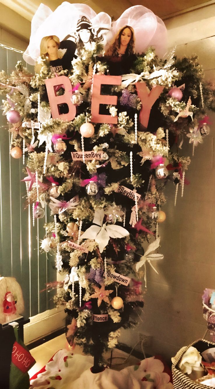 Beyonce Themed Upside Down Christmas Tree Christmas Tree