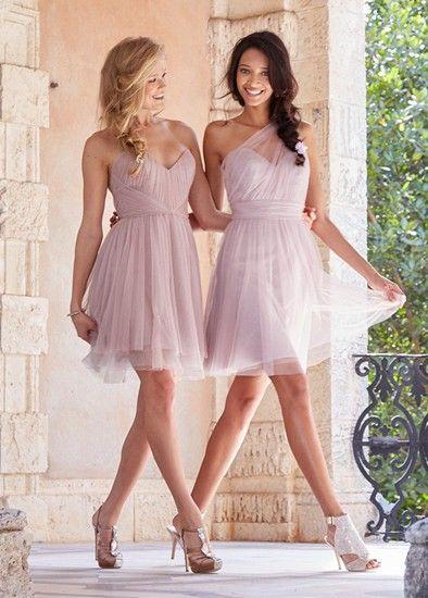 Lovely prom dresses in Primrose English net over silver net, from JLM Europe