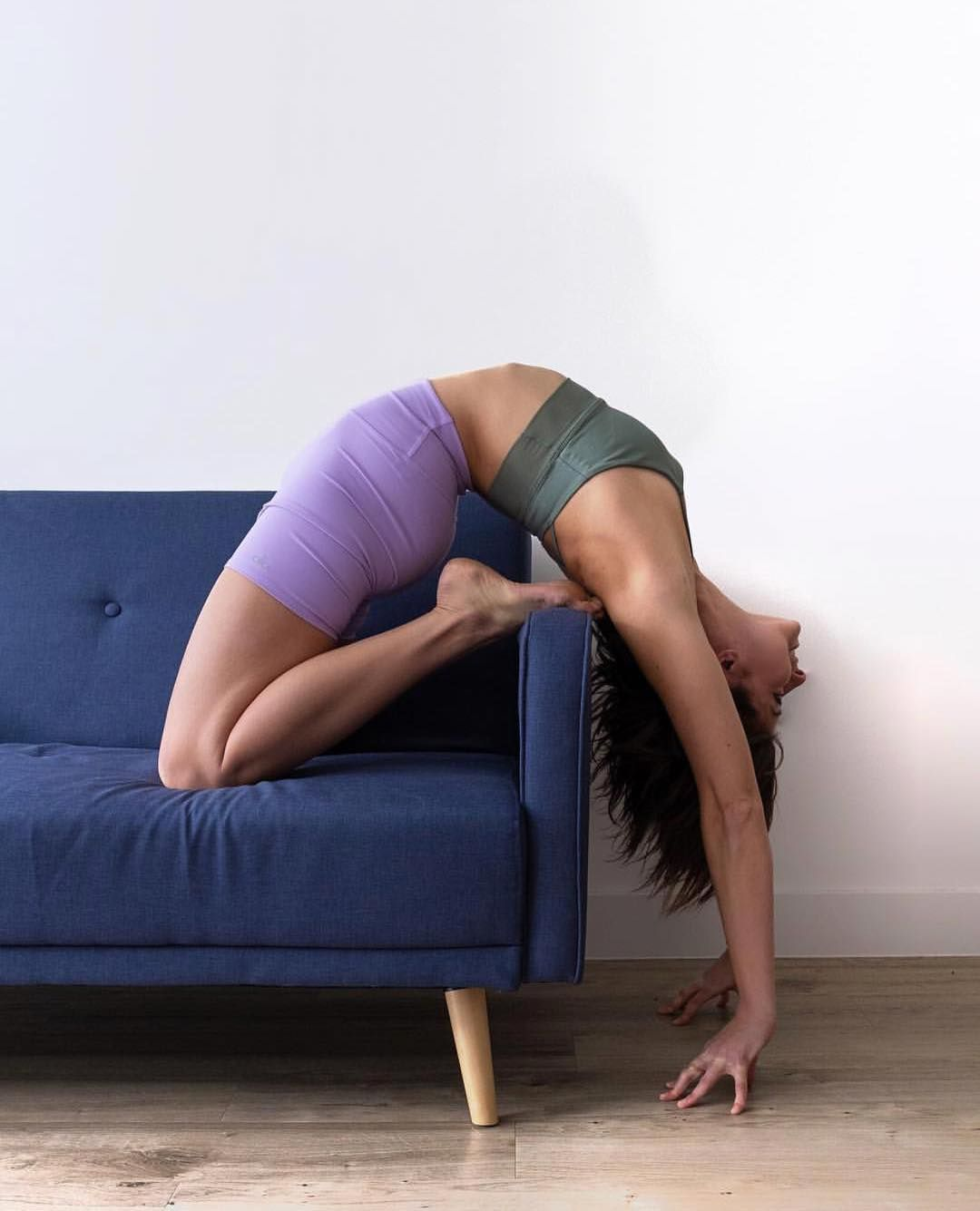 Sit On The Couch All Day But Make It Yoga Swipe Right To See How Adellbridges Gets Into This Super Flexy Backbend Adell Is Wearing