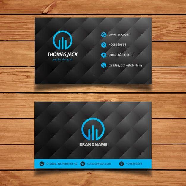 Molde moderno do carto preto e azul business cards visit cards molde moderno do carto preto e azul modern business cardsfree reheart Image collections