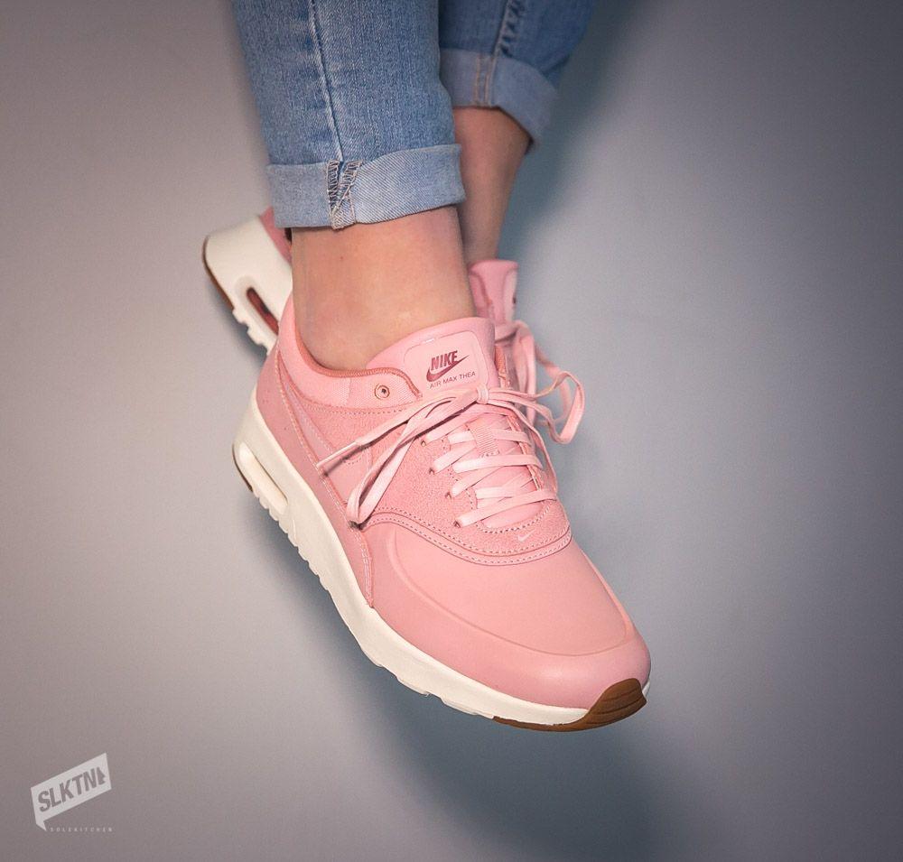 Pinker womens Nike Air Max Thea Premium