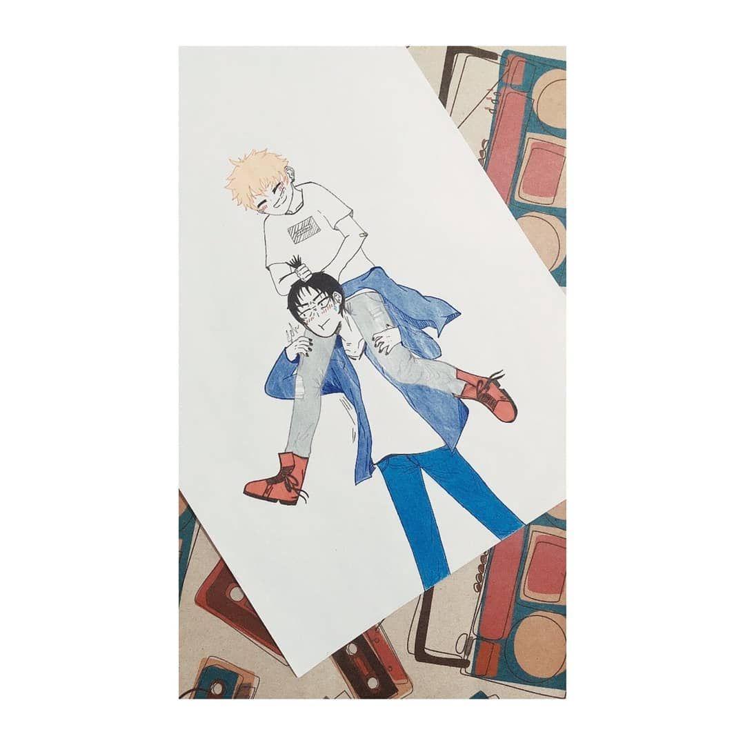 *ships so hard breaks herself* 😐😂 I love these two so much...*sigh* Those nails tho 💞😂 . #art #artist #artist #artwork #artistsoninstagram #drawing #drawings #drawing✏ #drawing🎨 #painting #paintings #painting🎨 #anime #animes #animeboys #haikyuu #haikyuuships #haikyuufanart #haikyuuart #排球 #tobiokageyama #tobio #kageyamatobio #kageyama #hinata #hinatashoyo #shoyohinata #shoyo #hinataxkageyama #kageyamaxhinata #kagehina
