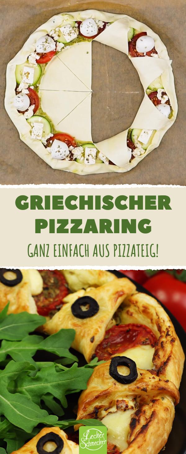 Pizzaring griechisch – Pizza Rezept für ein herzhaftes Mittag oder Abendessen