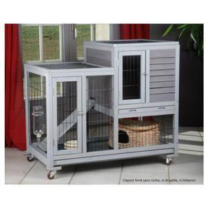 clapier d 39 int rieur en bois et roulettes pour int rieurs en bois clapiers et rongeur. Black Bedroom Furniture Sets. Home Design Ideas