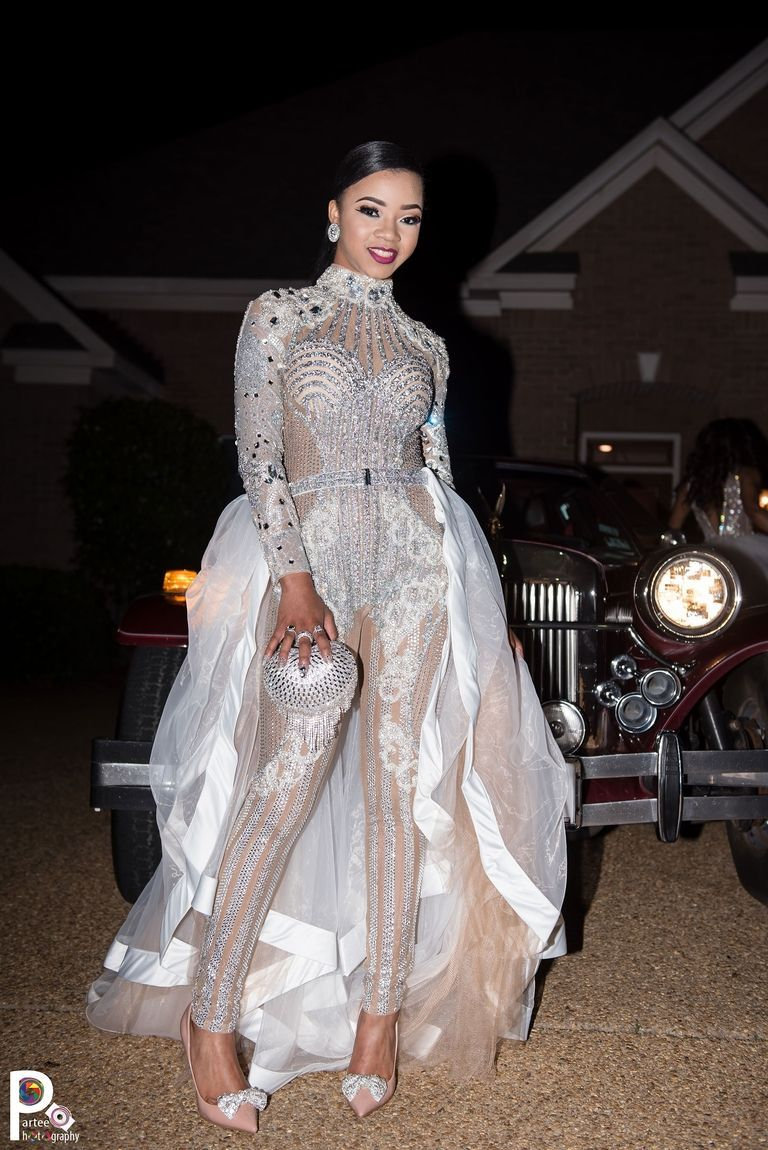 Faith Thigpen S Sparkly Kardashian Inspired Prom Jumpsuit Creative Prom Outfits Prom Outfits Black Girl Prom Dresses Jumpsuit Prom Dress [ 1150 x 768 Pixel ]