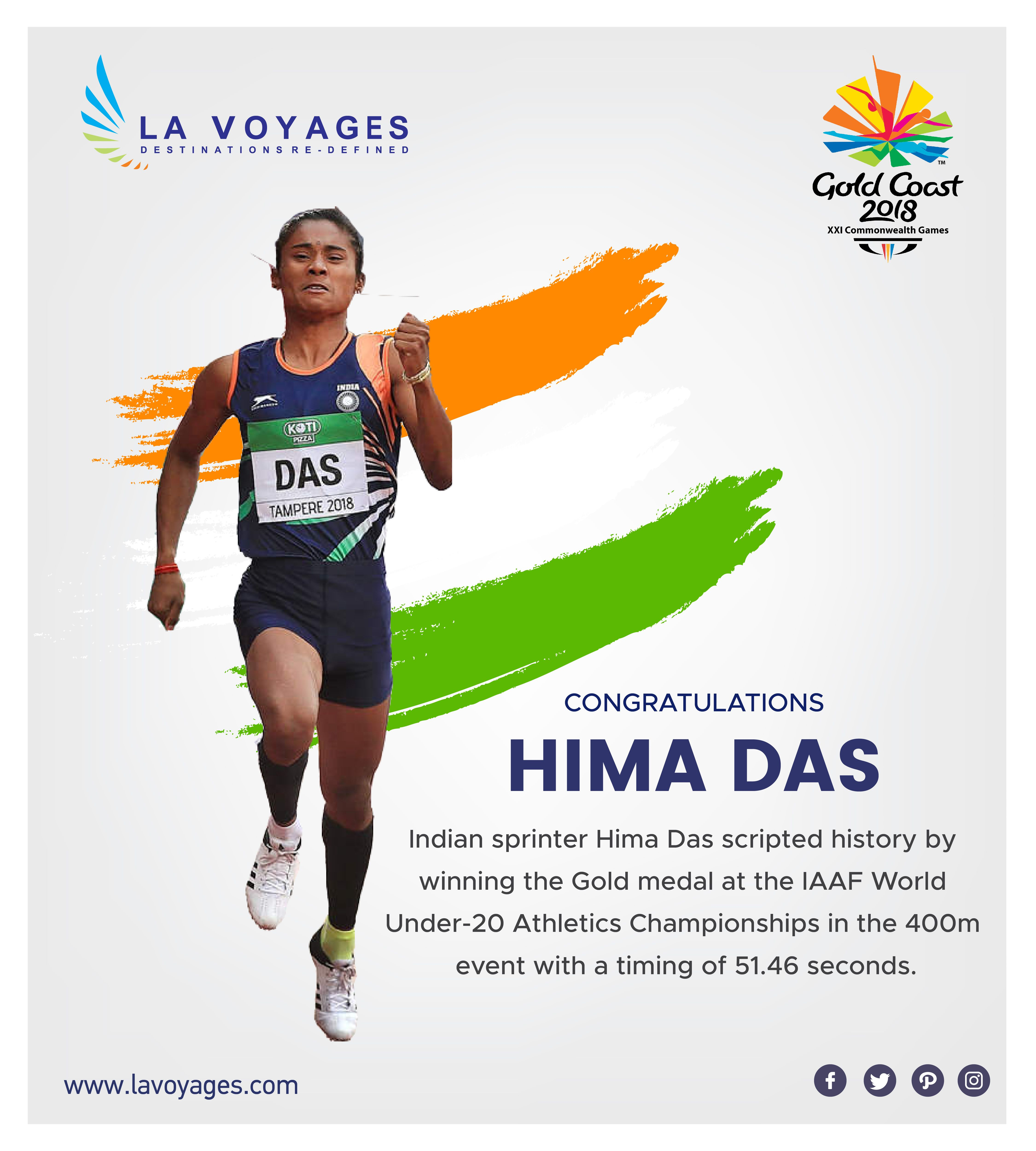 Congratulation Hima Das, scripted history by the
