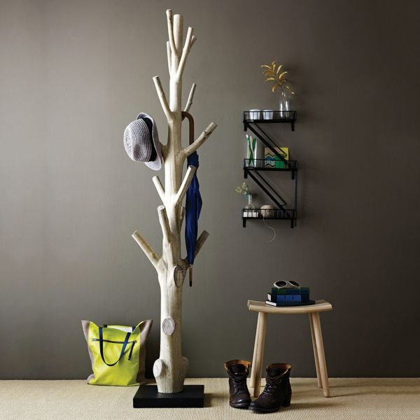 le porte manteau arbre ajoute une touche d co votre int rieur hall pinterest salons. Black Bedroom Furniture Sets. Home Design Ideas