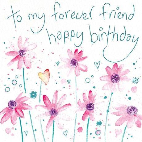to my forever friend happy birthday card cover feliz cumpleaños