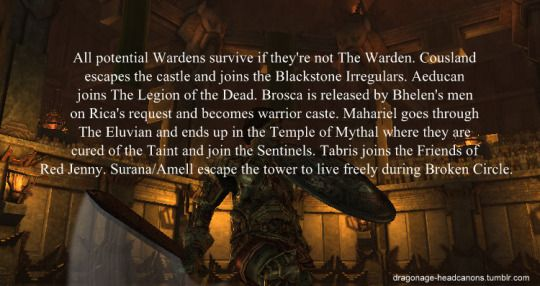 Dragon Age Headcanons - this is so much better than thinking they're all dead