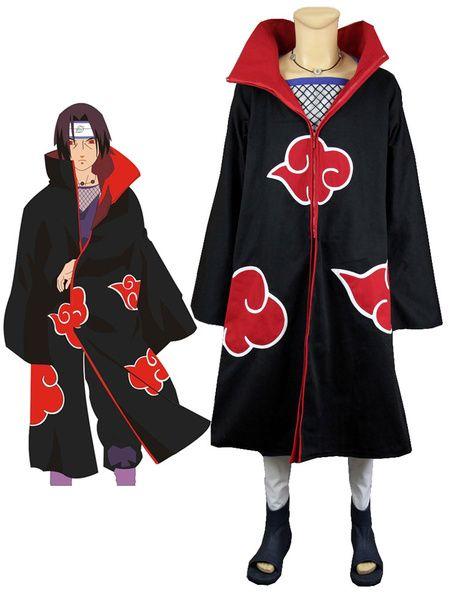 Naruto Uchiha Itachi Akatsuki Halloween Cosplay Costume Japanese Outfits Anime Inspired Outfits Cosplay Outfits