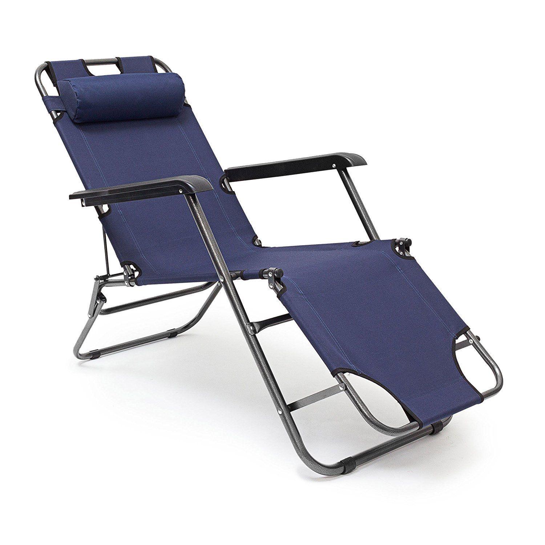Relaxdays folding lounge chair x x cm patio furniture