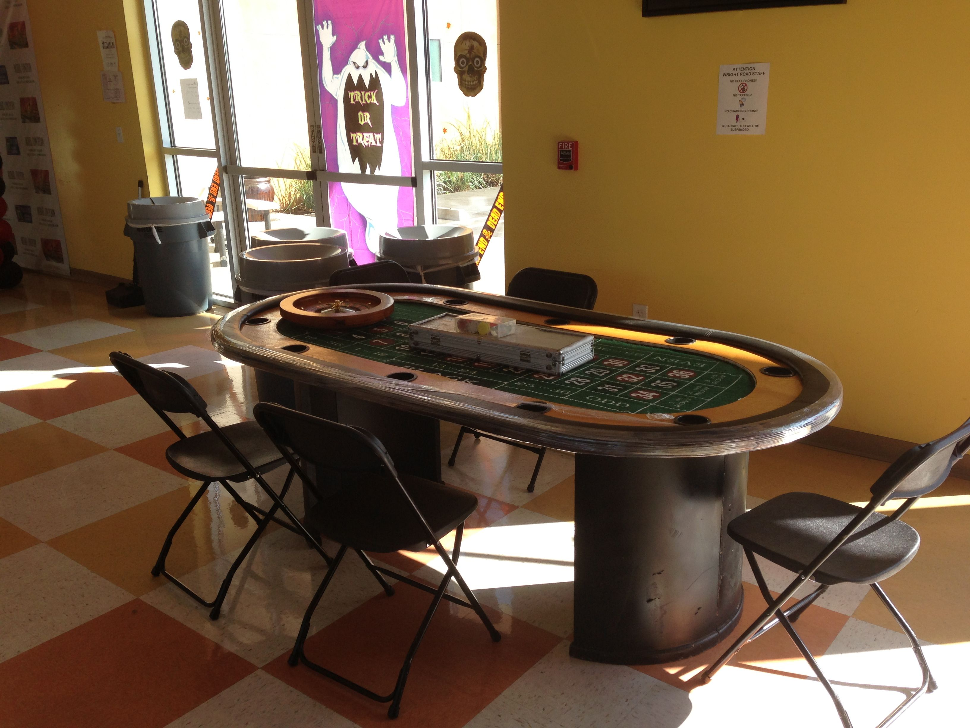 Casino Roulette Table DADS Poker Night Casino Party Rentals
