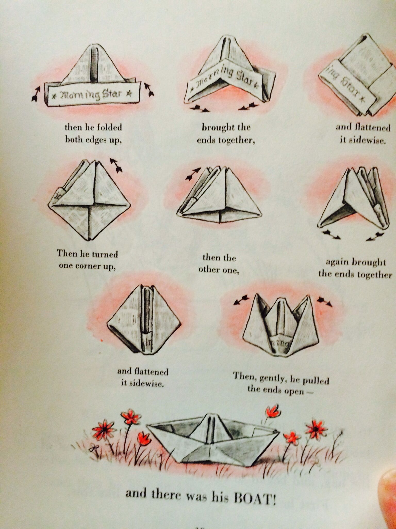 How To Make A Newspaper Boat Illustrations From The Book Curious