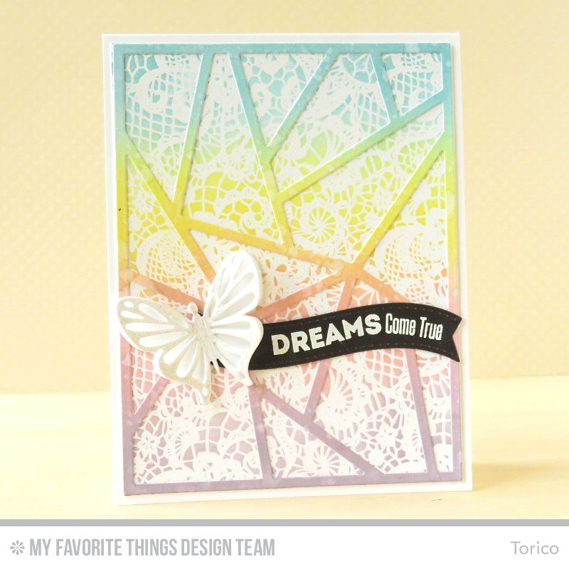 Lace Background, Abstract Cover-Up Die-namics, Flutter of Butterflies - Solid Die-namics - Torico #mftstamps