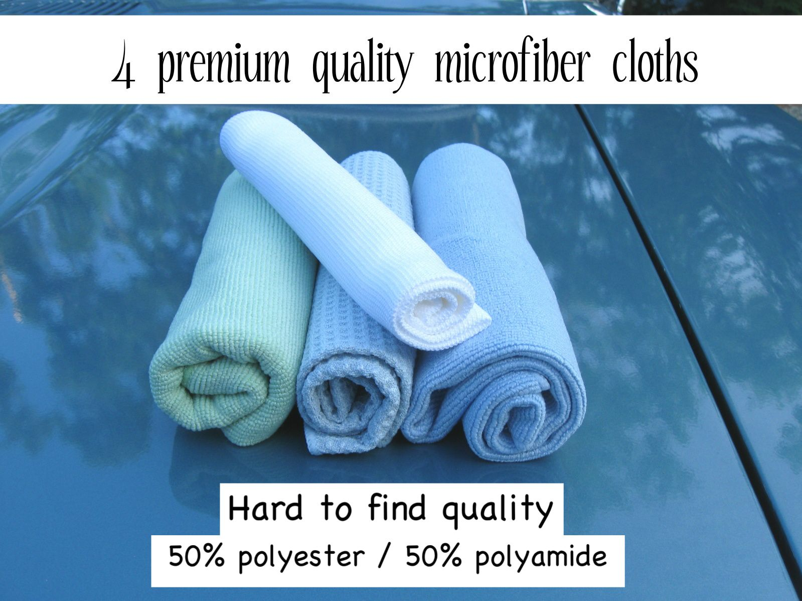 Sale now on Ebay – Premium microfiber cloths!   with quality ~ hard to find ~  50% polyamide / 50% polyester. http://www.ebay.ca/sch/hummbirdsa/m.html?_nkw=&_armrs=1&_ipg=&_from=   shine kitchen appliances bathrooms