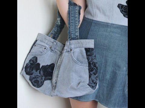 youtube jeanstasche n hen 2 taschen bags. Black Bedroom Furniture Sets. Home Design Ideas