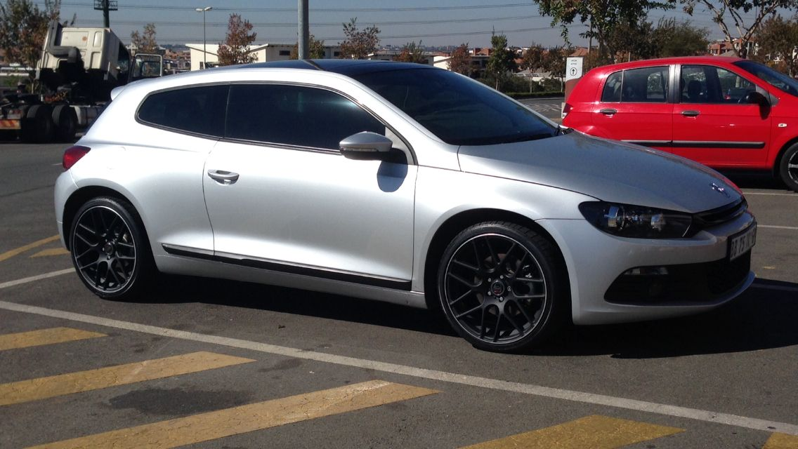 "Vw Van Nuys >> Silver VW Scirocco matte black 19"" wheels 