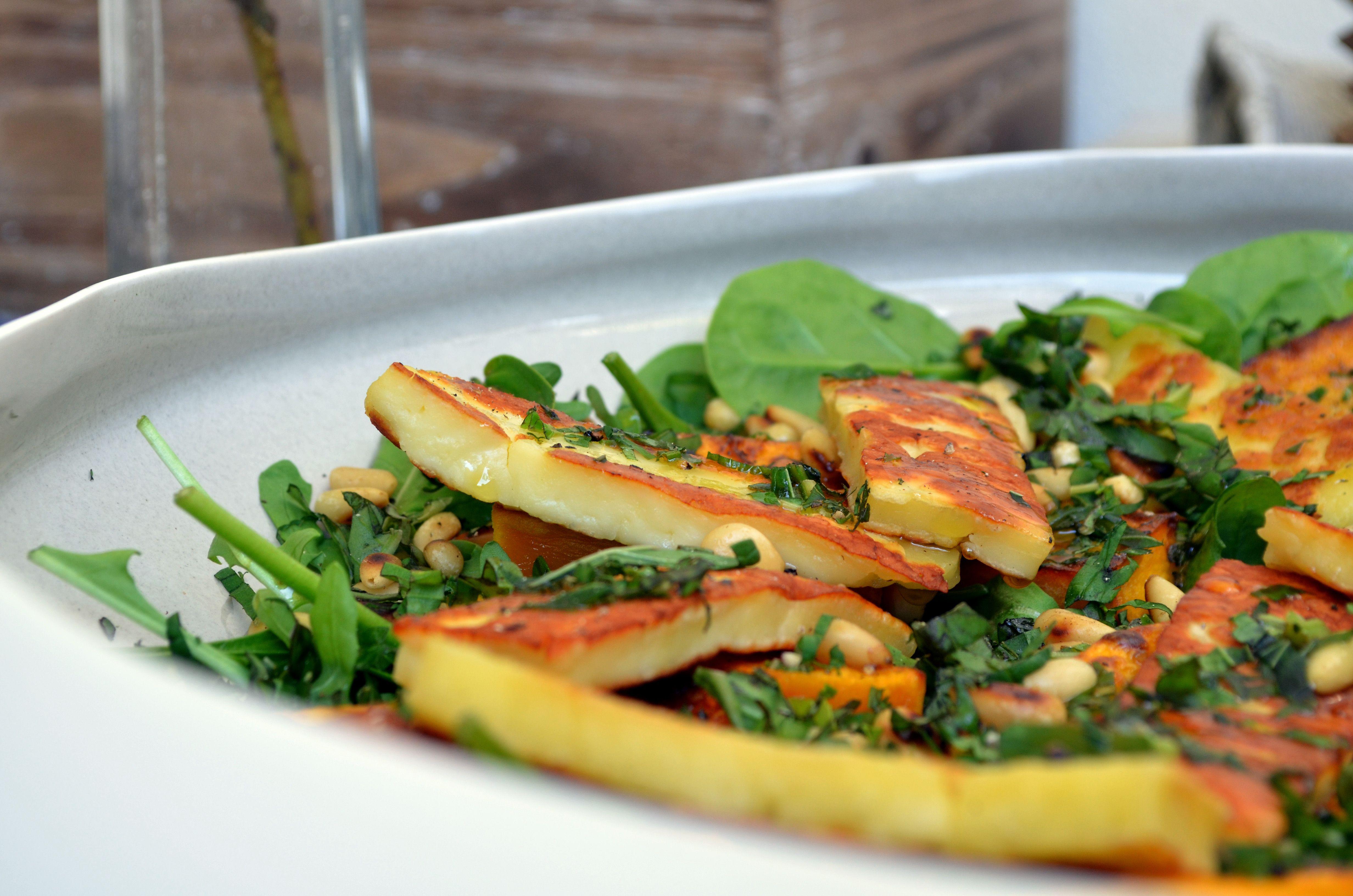 haloumi & roast pumpkin salad