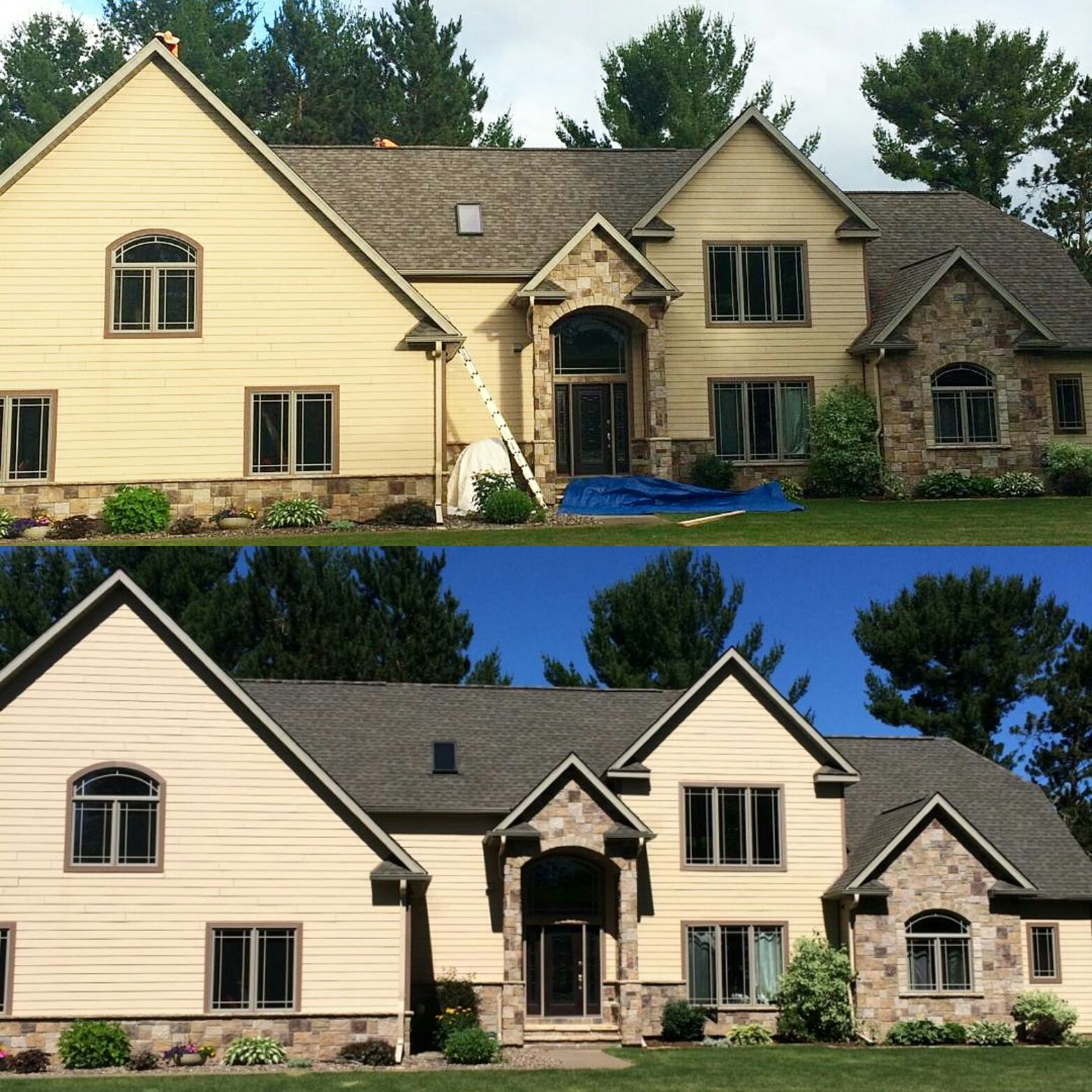 Best Before And After Using Gaf Timberline Natural Shadow 30 In 640 x 480