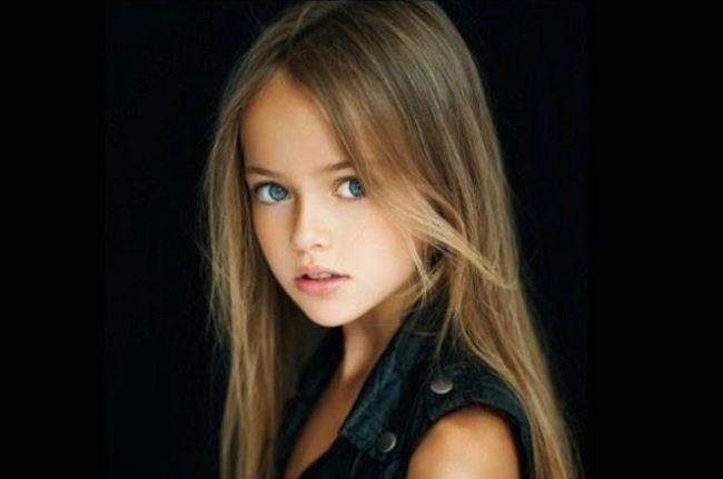 Negen jaar oud, beroep: top model en mooiste meisje ter wereld