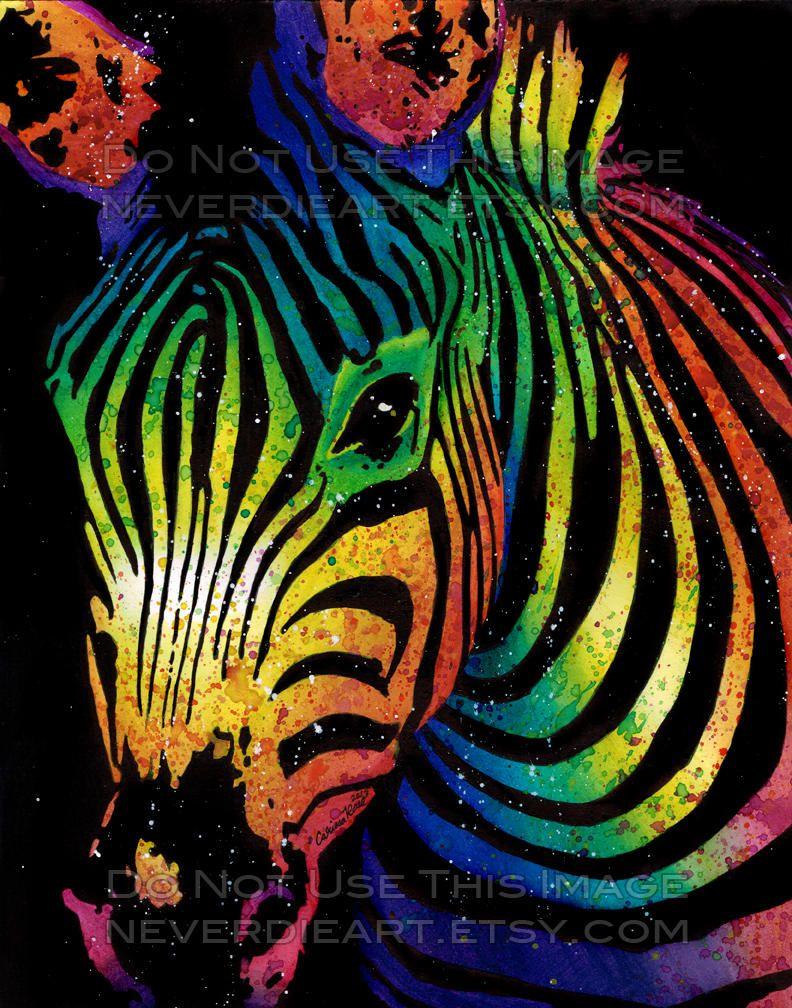 Zebra By Misscarissarose Zebra Art Safari Animal Art Zebra
