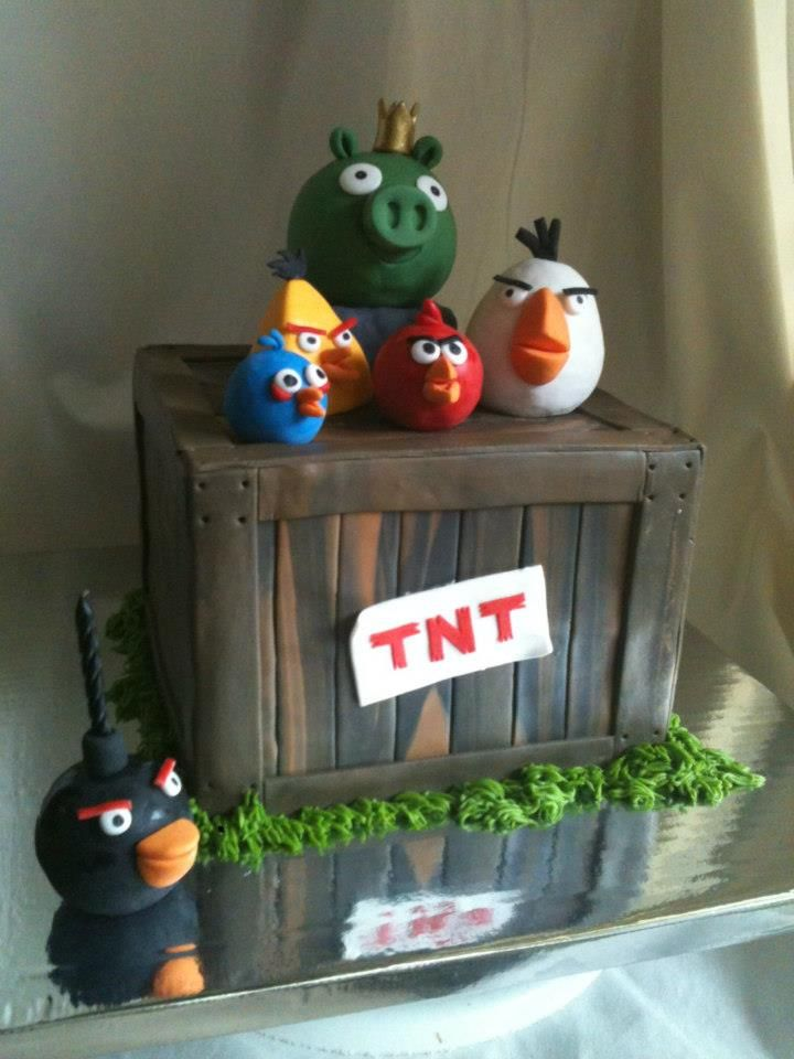 Cakes for kids let them eat cake pinterest cake for Angry birds cake decoration