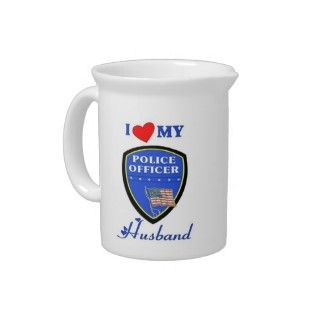 I Love My Police Husband cute t-shirts, home decor and law enforcement family gifts