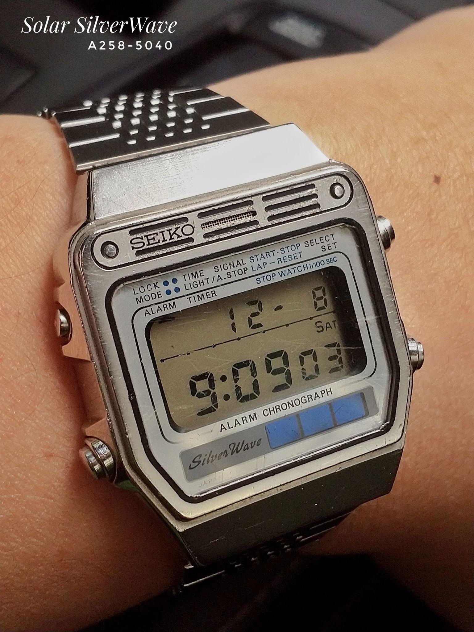 Seiko A258 5040 Coolest Vintage Seiko Digital In 2019 Old