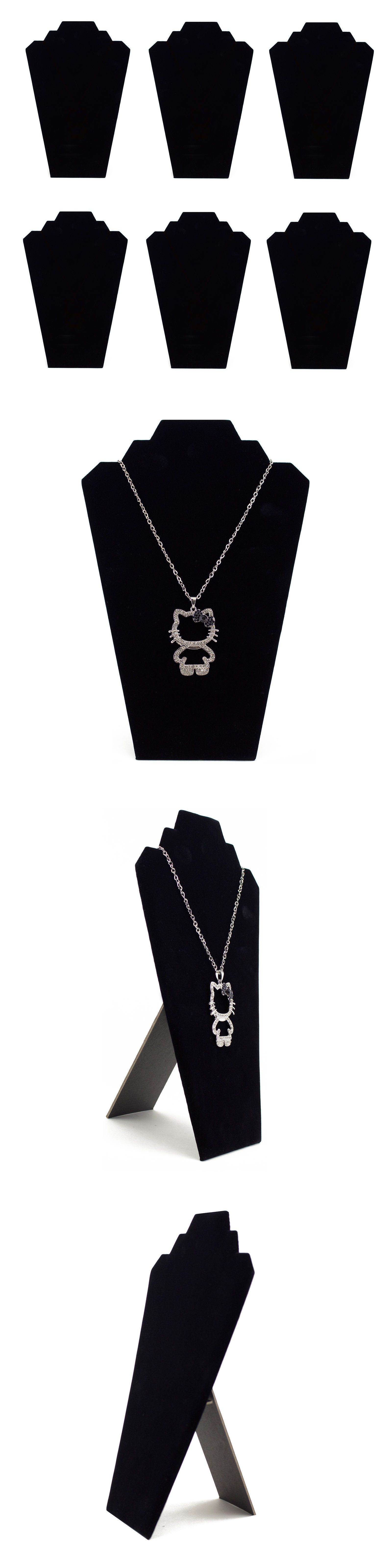 Necklace and pendant set black velvet necklace padded bust