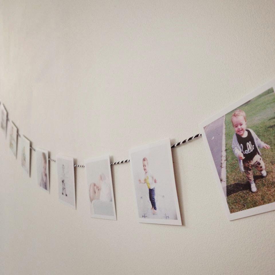 Spiksplinternieuw DIY #1. Foto-slinger (met afbeeldingen) | Verjaardag foto's FD-51