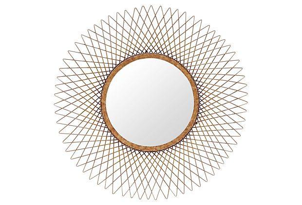 Saratoga Mirror: Love the Art Deco Flare to this mirror