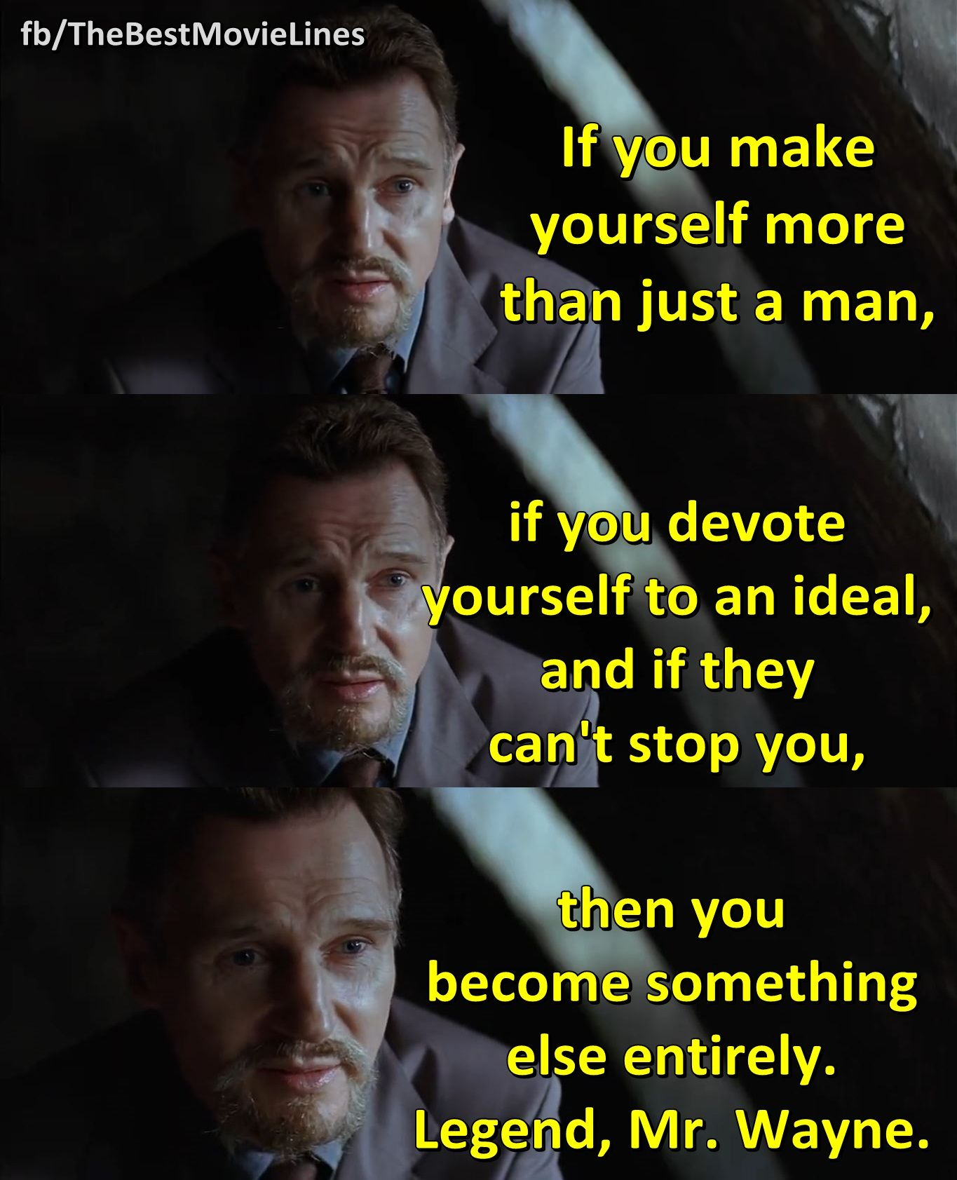 Liam Neeson in Batman Begins (2005)  | The Best Movie Lines