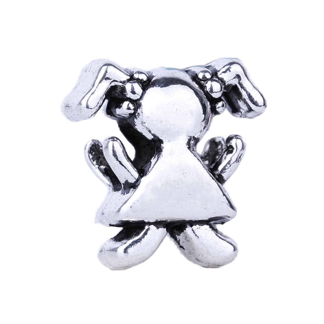 watch more here piece silver high quality girl bead diy