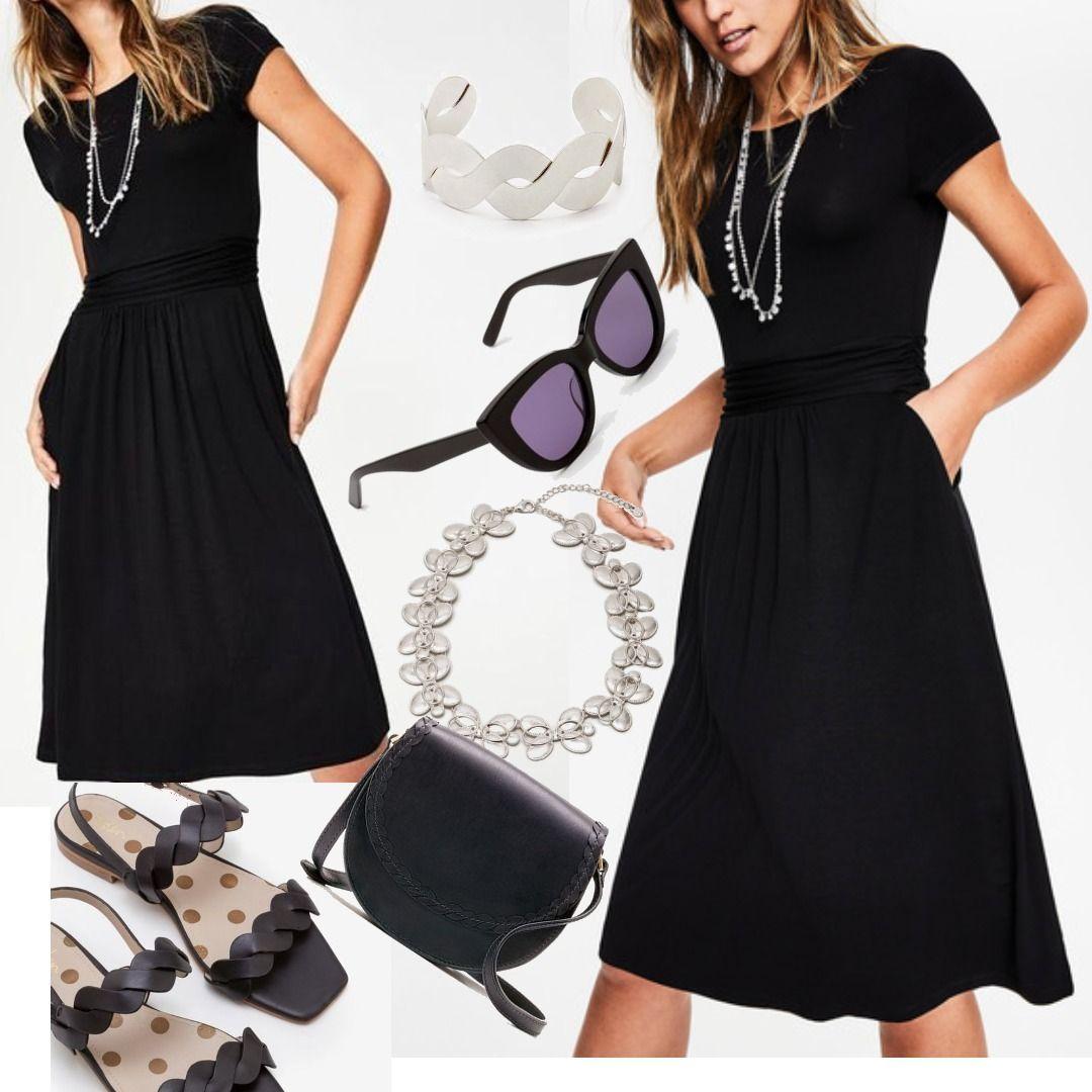 amelie jerseykleid black damen boden für damen zum