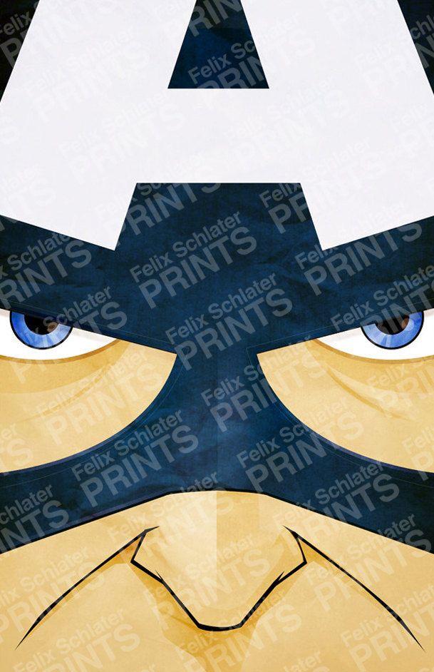 Superhero Series  Captain America Poster by felixschlaterprints, $12.00