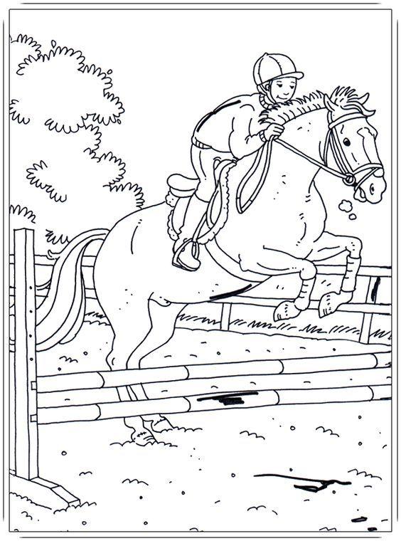 ausmalbilder pferde mit reiterin  1ausmalbilder in