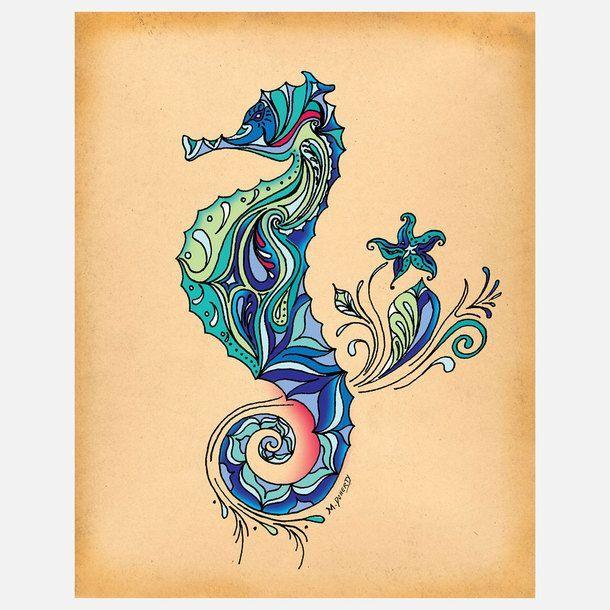tatouage hippocampe 12840 motif pinterest tatouage hippocampe tatouages et idee creation. Black Bedroom Furniture Sets. Home Design Ideas