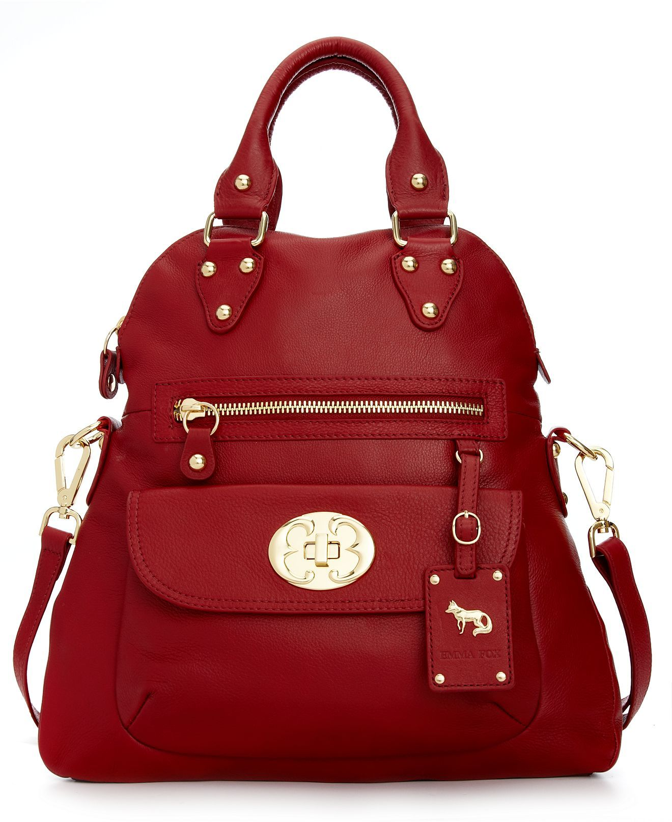 Emma Fox Handbag, Classics Large Foldover Tote - Emma Fox - Handbags    Accessories - Macy s Bordeaux SALE  222.99 82d842b094