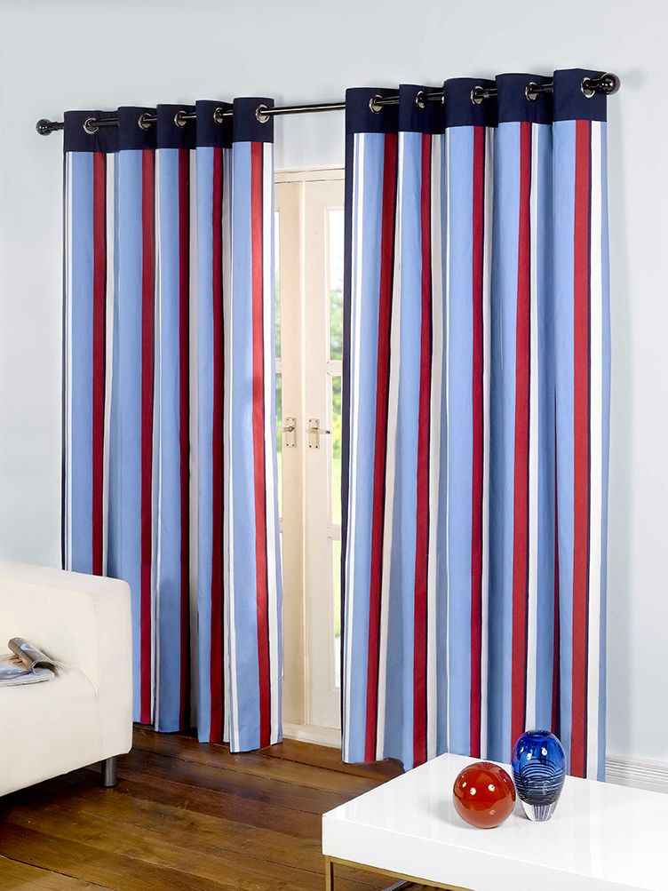 Give Your Window A Stunning Looks With Our Padstow Marine Eyelet Curtains Curtains Home Decor Striped Curtains