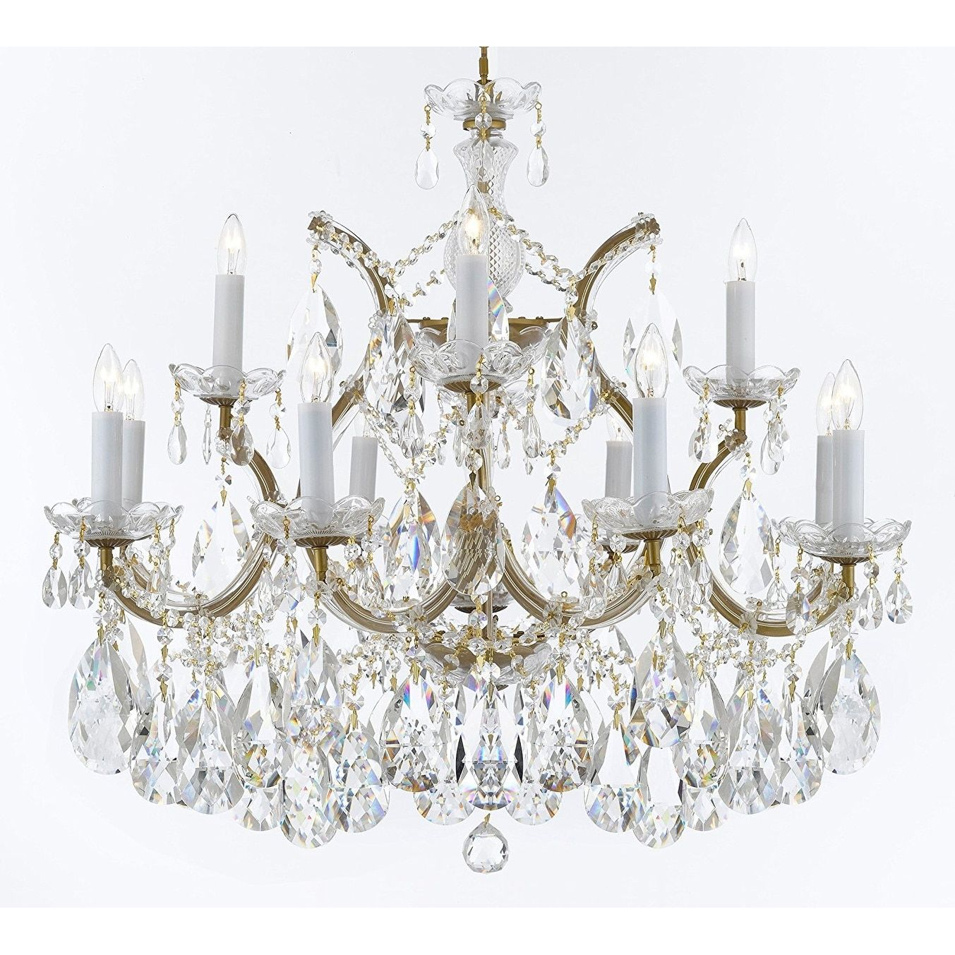 Maria theresa crystal chandelier w large luxe diamond cut crystals gallery maria theresa crystal chandelier w large luxe diamond cut crystals aloadofball Image collections