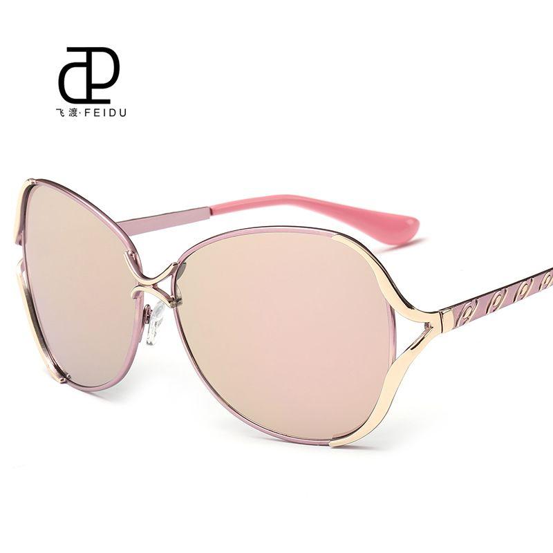 2f2d65dc0f33 FEIDU 2016 New Butterfly Sunglasses Women Brand Designer Metal Frame Sun  Glasses For Women Driving UV400 Oculos De Sol Feminino