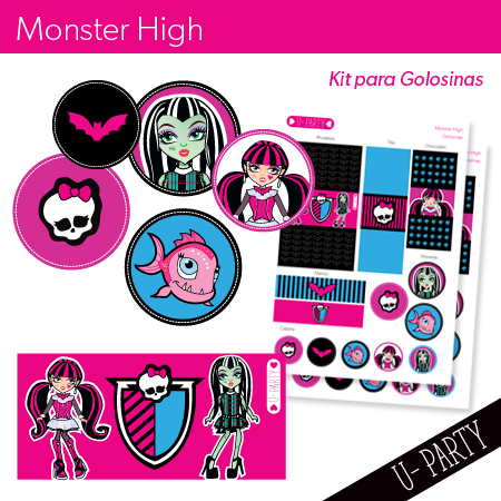 Monster High — U-Party kit imprimible completo