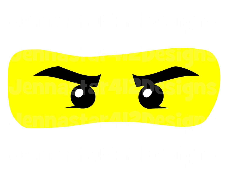 Lego Inspired Ninjago Eyes Diy Printable Iron On Transfer Digital