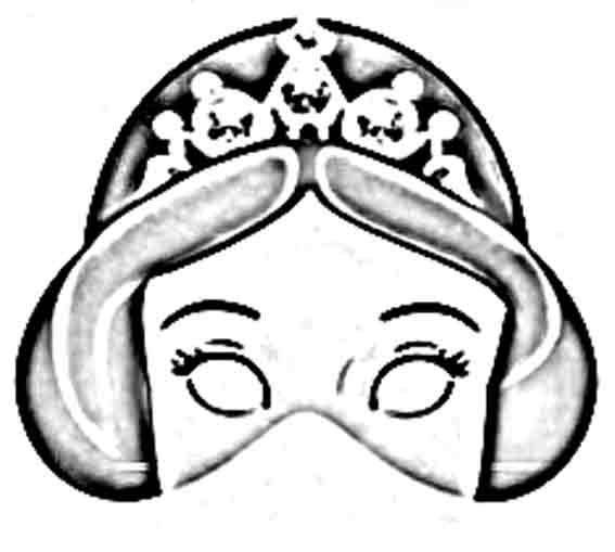 Mascaras de princesas para imprimir, pintar y recortar | photocall ...