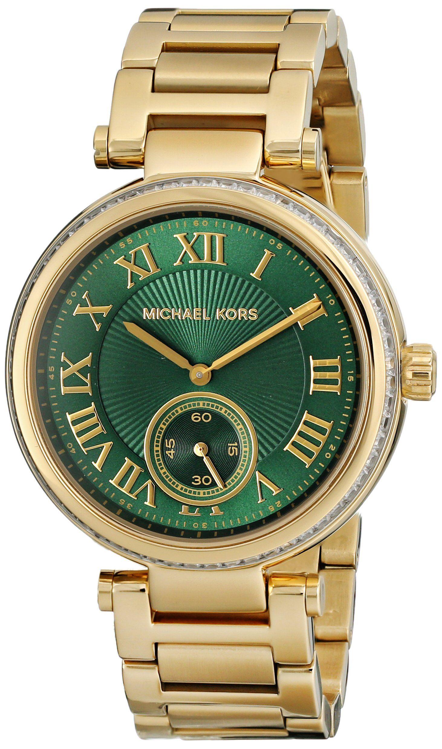 4d1f5e5df934 Reloj Michael Kors Skylar Mk6065 Mujer Verde  Amazon.es  Relojes ...