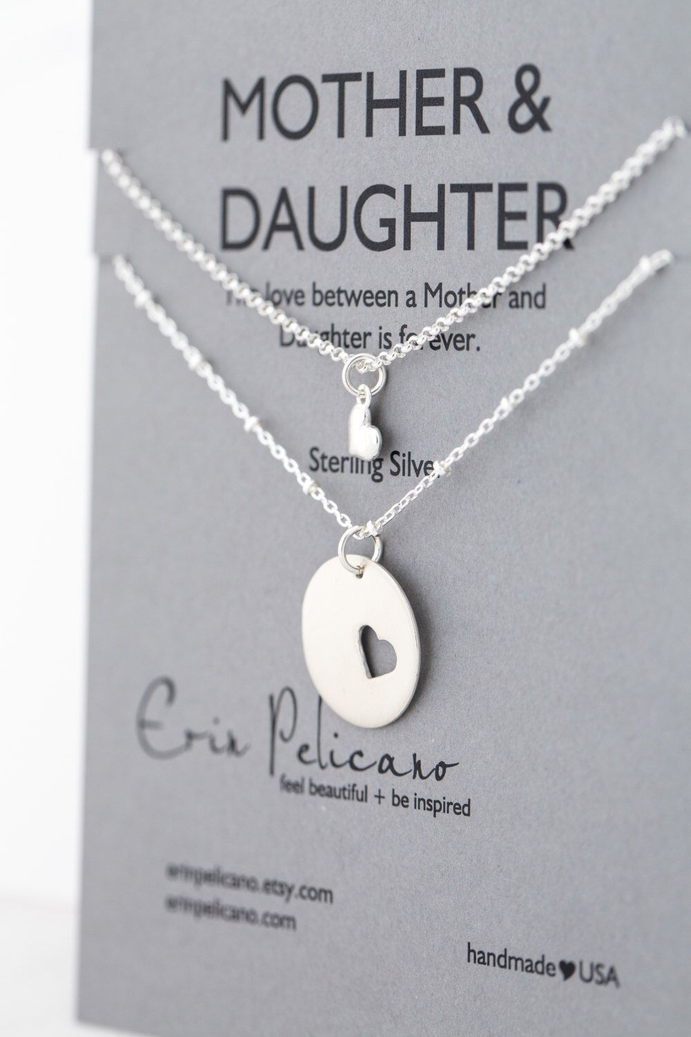 Mother Daughter Necklace Set Mothers Necklace Mother of
