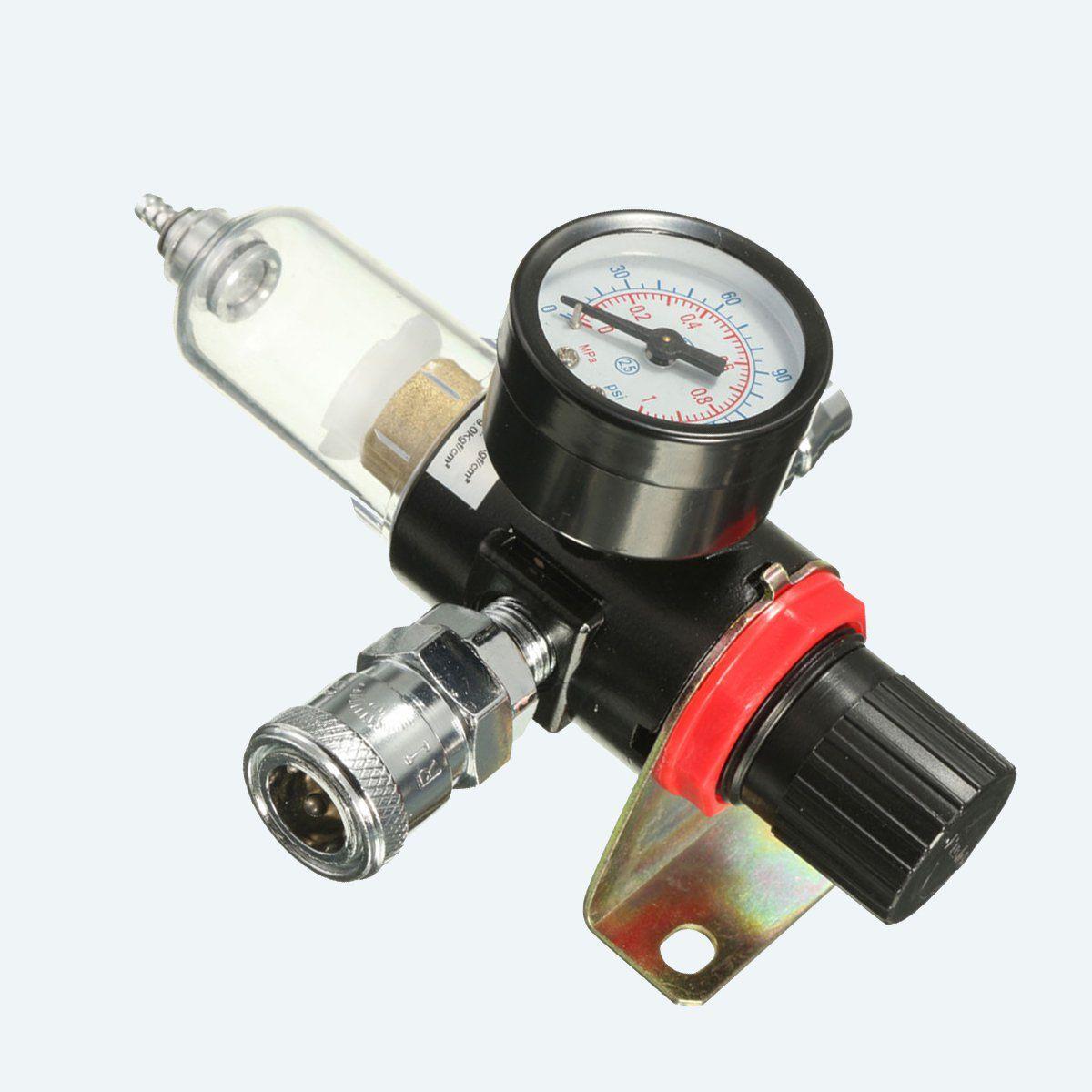 1 4 Air Compressor Oil Water Regulator Filter Pressure Gauge Moisture Trap In 2020 Air Compressor Oil Air Compressor Air Tools