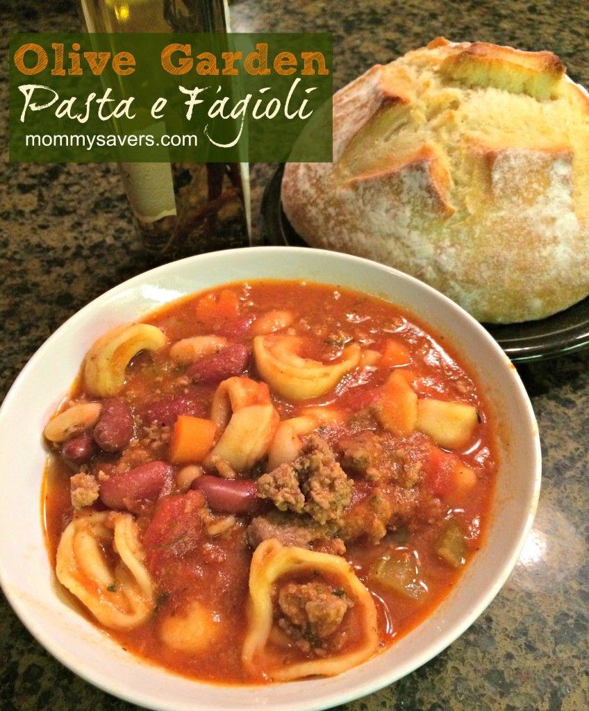 Copycat Recipe Olive Garden Pasta E Fagioli For The Crock Pot Crock Pot Cooking Pinterest