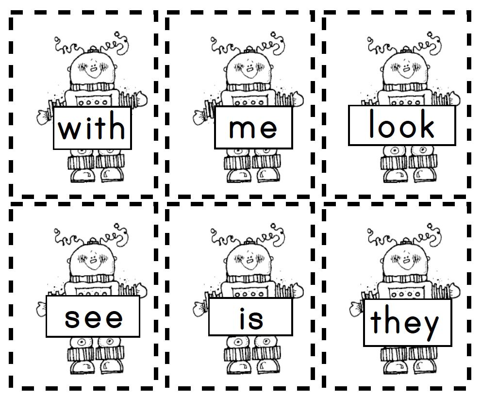 Robot Sight Words Great For Boys Sight Word Fun Sight Words Kindergarten Reading [ 816 x 991 Pixel ]